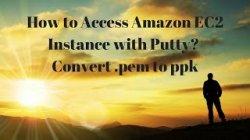 Use puttygen to convert pem to PPK // PUTTYgen